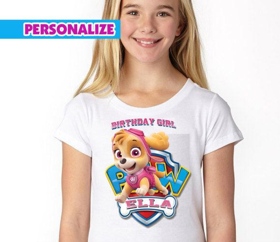 Paw Patrol Birthday Shirt , Paw Patrol Girl Birthday Shirt , Paw Patrol Girl Shirt , Girl Birthday Shirt , Paw Patrol Iron On Transfer ABOUT THIS LISTING: This listing is for digital file only No physical material will be send This is a hi resolution (300 dpi) image that can be printed the you can iron transfer it on a shirt for your birthday party. The final proof will be without our store name on the background This listing can be personalize =====PLEASE FOLLOW ...