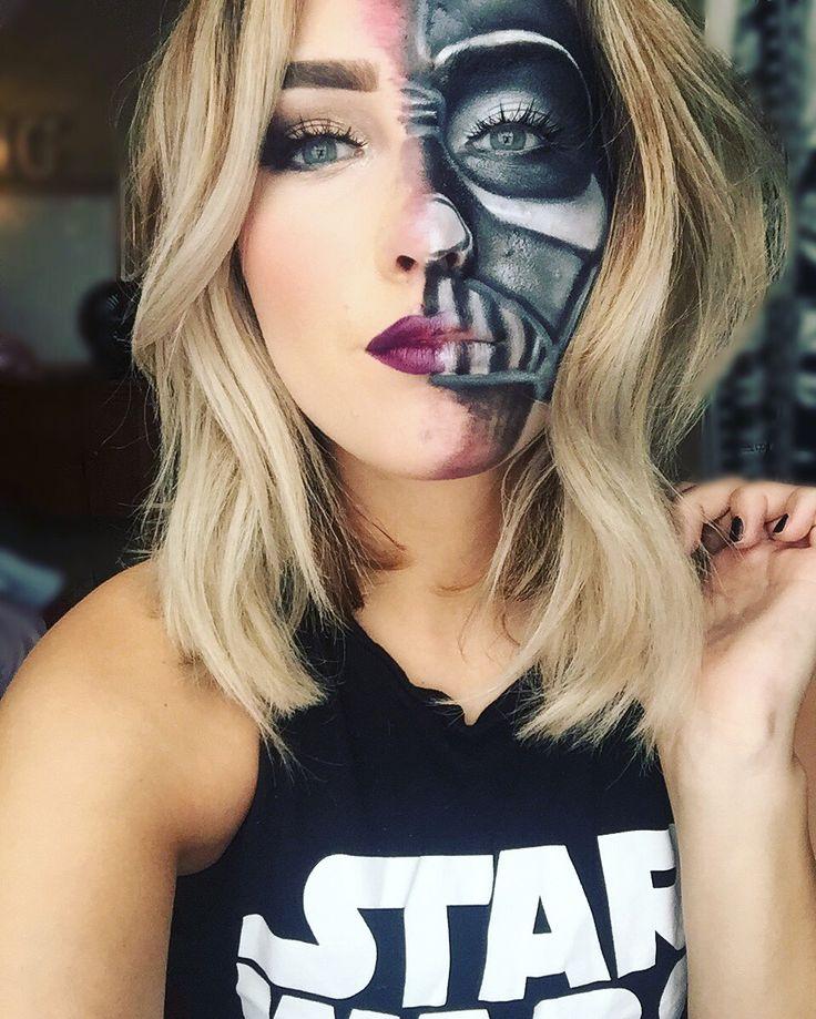 Darth Vader inspired makeup #Halloween #HalloweenMakeUp #StarWars