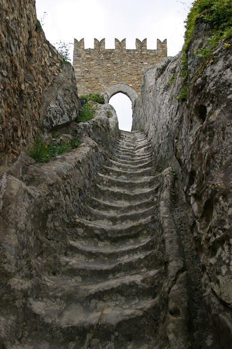 Worn by countless medieval soldiers over the centuries, these stone stairs lead to Sperlinga Castle. . In the year 1282, during the period of the Sicilian Vespers, a French garrison barricaded itself inside, resisting the siege for an entire year