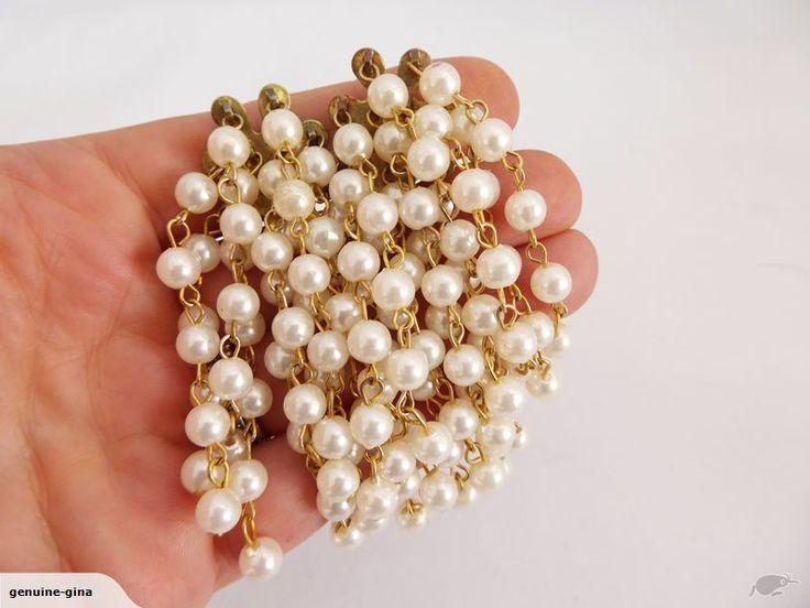 Vintage cluster pearls clip on earrings