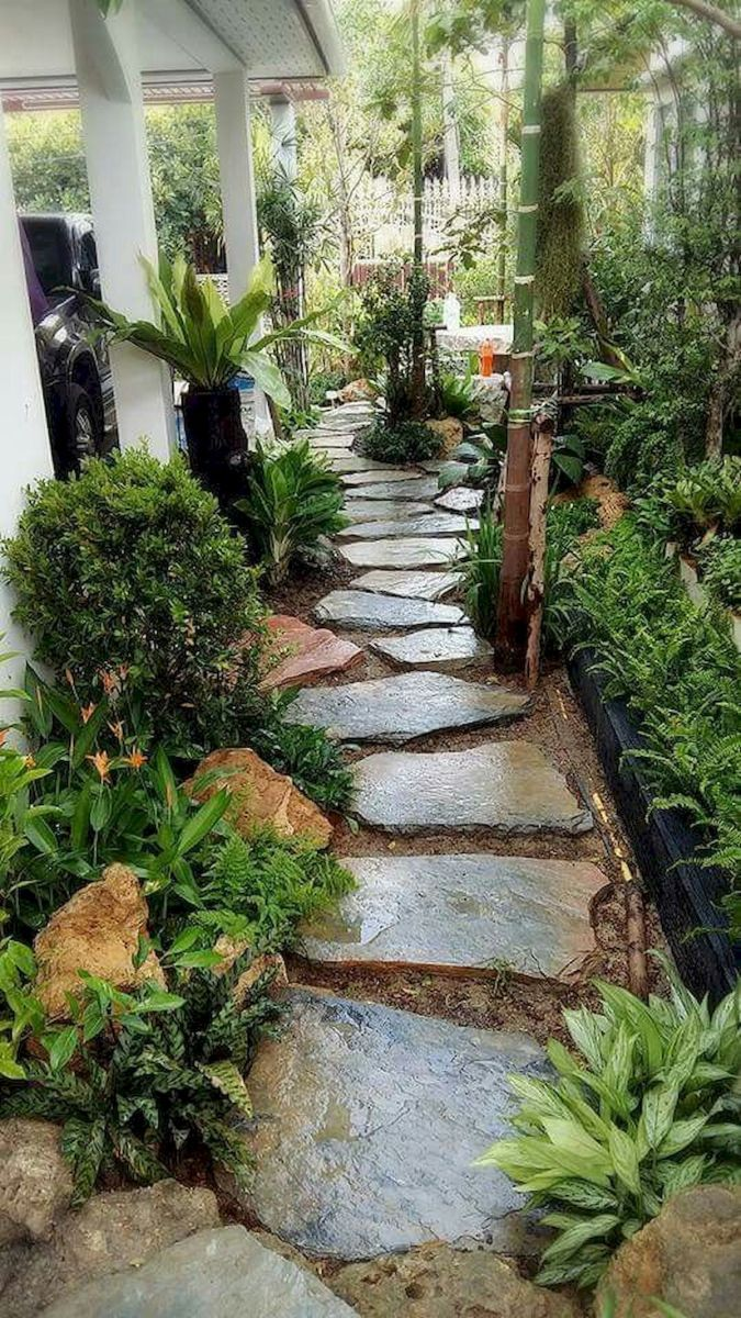 Enchanting Small Garden Landscape Ideas With Stepping Walk: 50 Fabulous Side Yard Garden Design Ideas And Remodel (32