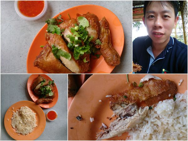 Breakfast at Pasar Ayer Panas @ Setapak. Photo by kyspeaks. Fried Chicken Rice.