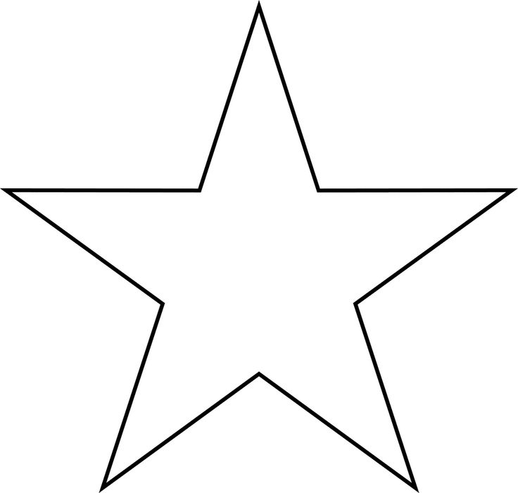 Star template for day 1 preschool craft