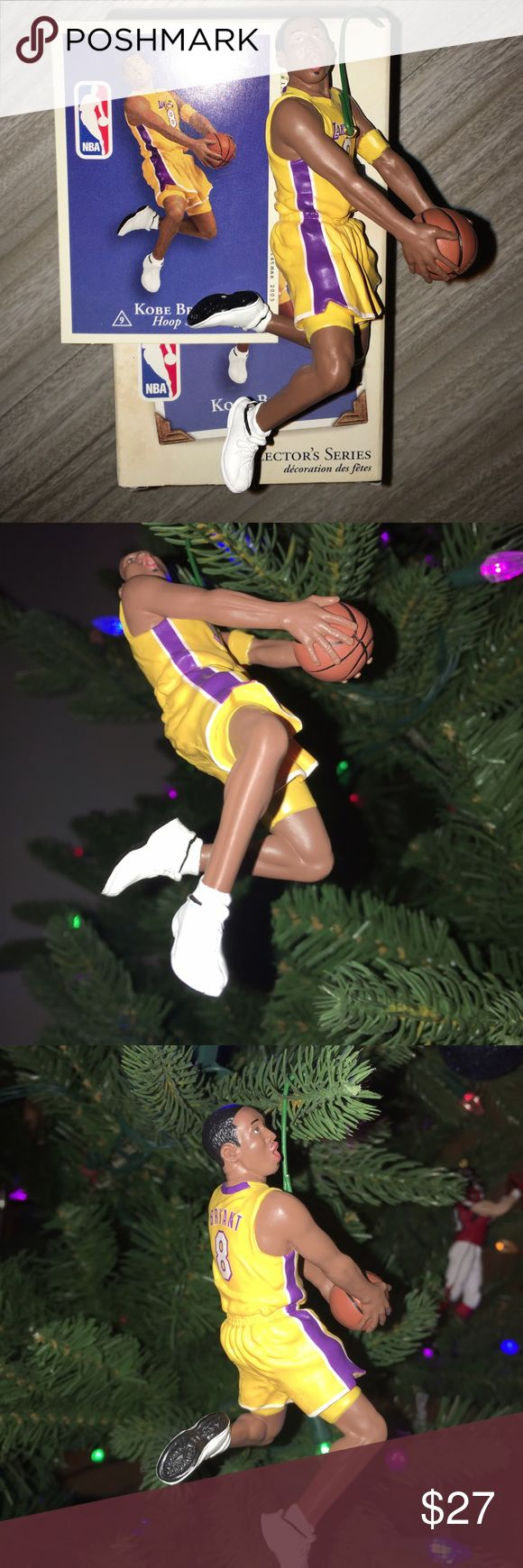Hallmark LA Lakers Kobe Bryant ornament LA Lakers Kobe Bryant hallmark keepsake Christmas ornament. In the box with the original trading card. Released in 2003. If you have any questions or would like additional photos please feel free to ask. hallmark Accessories