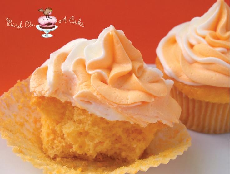 Bird On A Cake: Orange Creamsicle Cupcakes: Sweet Treats, Orange Creamsicle, Orange Cakes, Sweet Tooth, Yummy Treats, Birds, Frostings Tutorials, Cupcakes Rosa-Choqu, Creamsicle Cupcakes