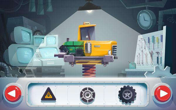 """Assembling Cars"" app game, Kizipad by Kuan Hung Chen, via Behance"