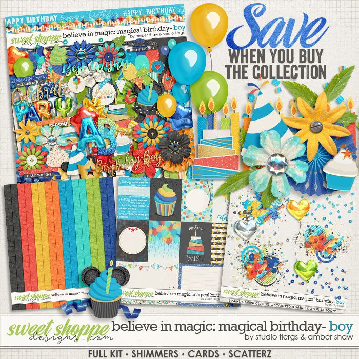 *FWP* Believe in Magic Magical Birthday - Boy Collection by Amber Shaw & Studio Flergs