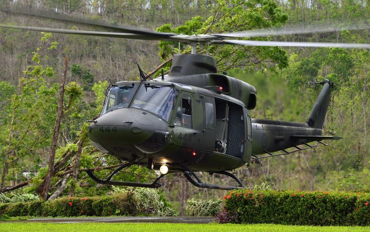 Royal Canadian Air Force CH-146 Griffon helicopter lands at the Philippine Army 3 Infantry Division Headquarters during Operation RENAISSANCE in Jamindan, Philippines (December 8, 2013) photo by MCpl Marc-Andre Gaudreault, Canadian Forces Combat Camera