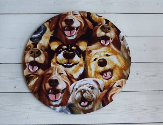 dogs mousepad / Mouse Pad / Mat round or rectangle   dog  chic / cute / preppy / computer, desk accessories / cubical, office, home decor / co-worker, student gift / patterned design / match with coasters, wrist rests / computers and peripherals / feminine touches for the office / desk decor