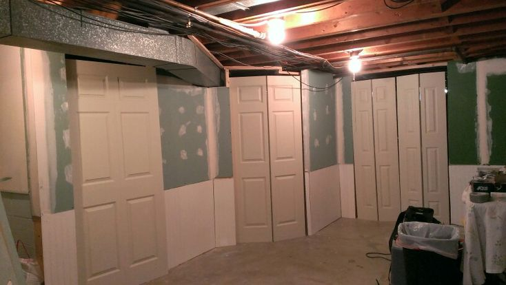 Finishing The Basement Hide Cover Enclose The Furnace And