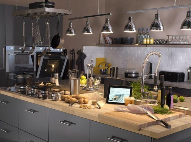 cuisine suspension plan de travail leroy merlin kitchen. Black Bedroom Furniture Sets. Home Design Ideas