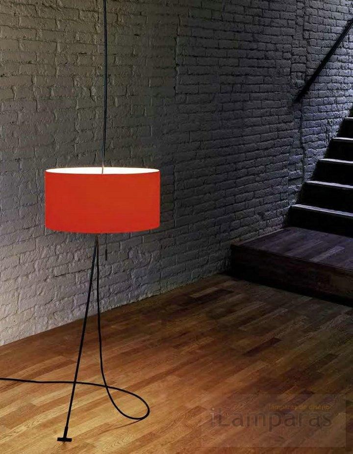 totora lampara de pie roja (599002) - Carpyen / iLamparas.com