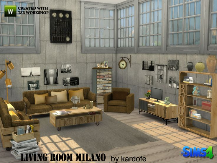 The Sims Resource: Livingroom Milano By Kardofe