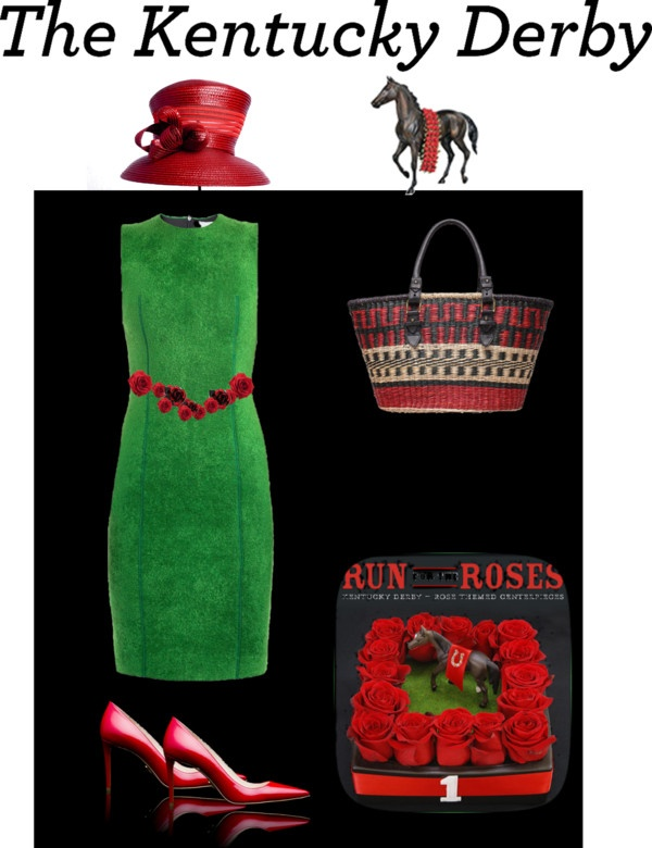 """Kentuky Derby 2"" by pepitarita ❤ liked on Polyvore"