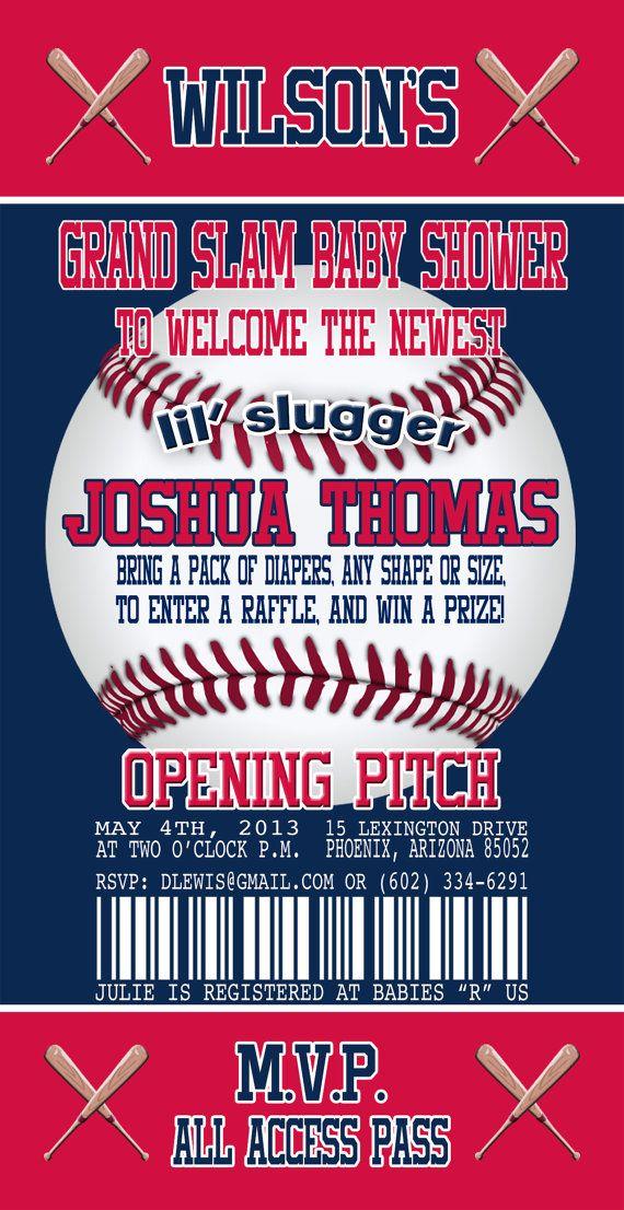 minnesota twins inspired baseball baby shower invitation baseball ticket invitation couples shower printable baby shower invitation