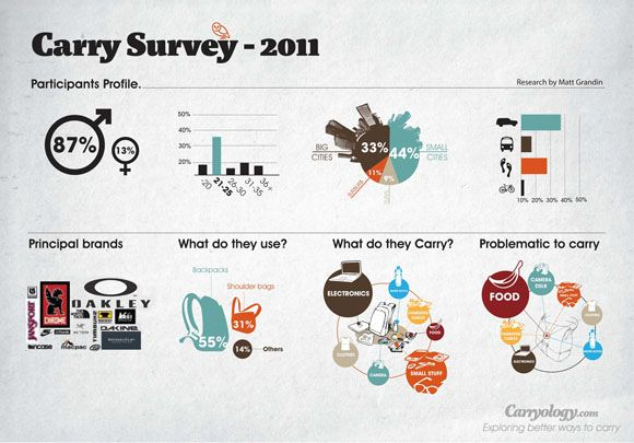 infographic for Carryology survey - infographic -
