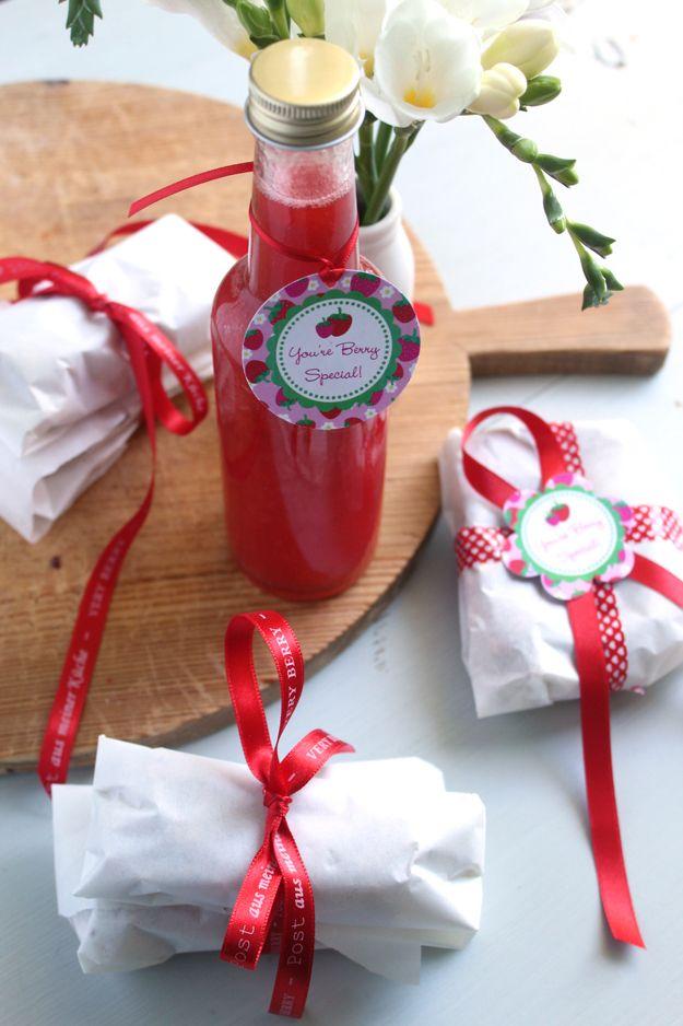 Erbeerlimes - Geschenke aus der Küche