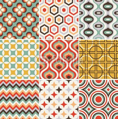25 best retro pattern ideas on pinterest. Black Bedroom Furniture Sets. Home Design Ideas