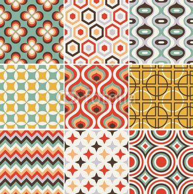 25 best retro pattern ideas on pinterest - Papier peint retro ...