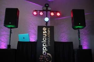 Did you know that with our company, EVERY DJ package includes a professional sound system in amazing condition, exciting Dance Floor lighting, a wireless mic for those giving toasts or speeches, a separate DJ mic so he can man the console while announcing those speakers.  The standard service is for 5 hours.   Check out our website to learn more! http://www.applauseweddings.com/