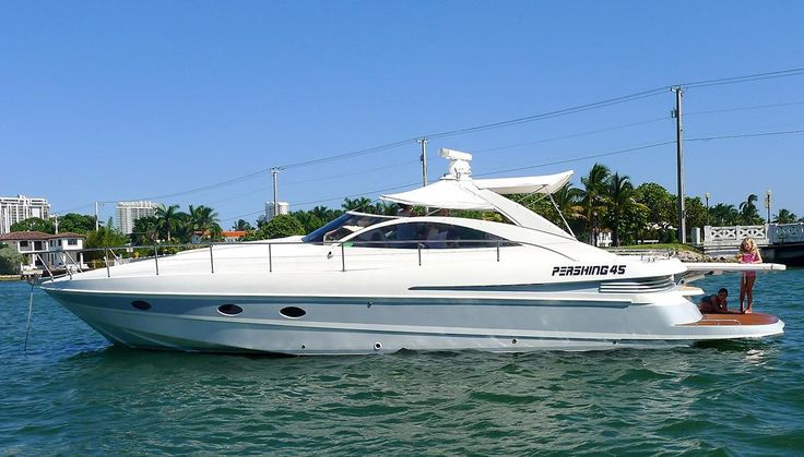 45 Pershing Sea Ray Azimut 2000 DA ROSE For Sale in Miami Beach, Florida, US