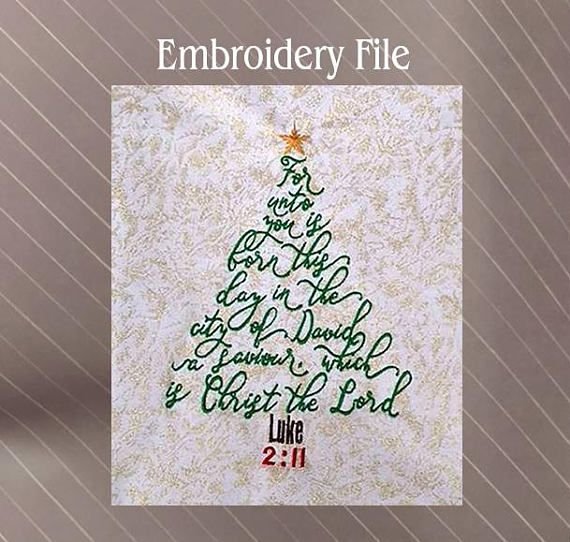 Christmas Tree Machine Embroidery Design File  4.9″ width x 6.9″ height  15,200 stitches Unique designs at https://www.sewfluffy.com