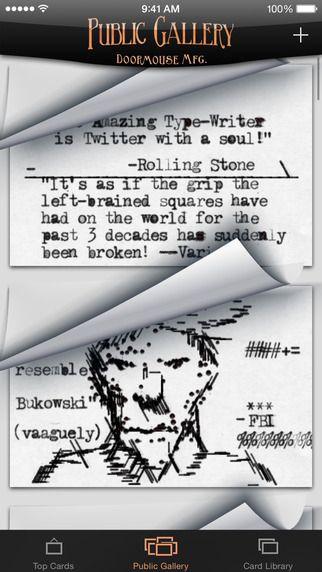 The Amazing Type-Writer doormouse Mfg. 제작 타자기로 자유롭게 글쓰기