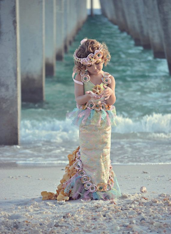OCEAN'S SECRET MERMAID CostumeDress Up by TheWhimsyFinShop on Etsy, $195.00