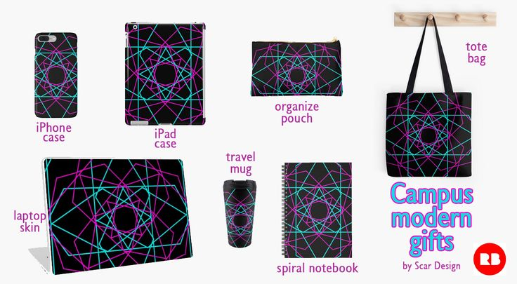 """""""Neon 80's"""" Campus  Back to School Essentials by Scar Design. #spiralnotebook #pouch #style #pencilspouch #campusnotebook #campus #modern #gifts #backtoschool #back2school #campusstyle #campusgifts #backtoschoolgifts #totebag #iPadcase #iPhonecase #laptopskin #style #travelmug #colorful #geometric #geometricgifts #scardesign #redbubble #giftsforhim #giftsforher #kidsgifts #freshman #frathouse"""