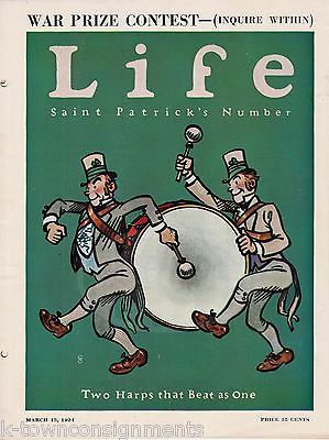 ST PATRICKS DAY PARADE ISSUE COVER ART GRAPHIC ILLUSTRATED LIFE MAGAZINE 1924