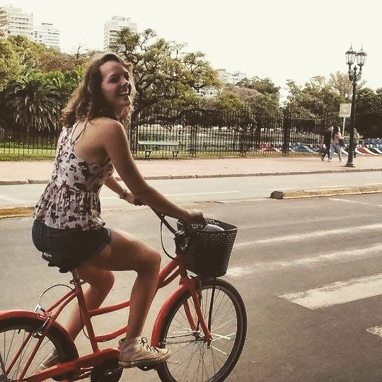 #ispyapi #buenosaires students on a bike tour in #palermo ! What a great way to see the sites and learn the history of #Argentina