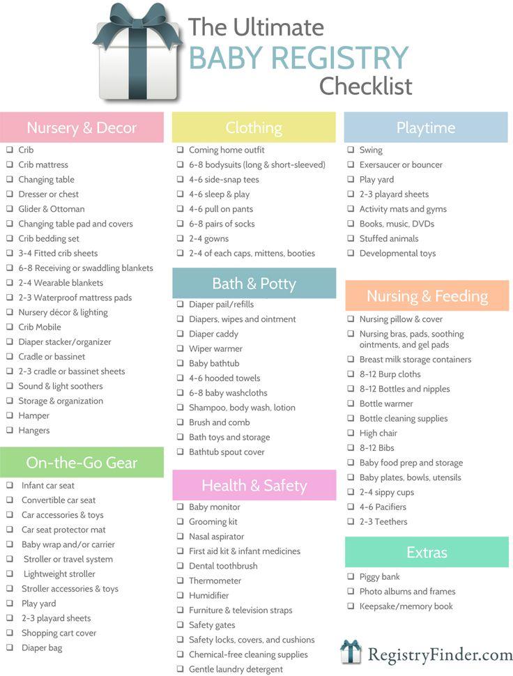 baby registry checklist on pinterest baby shower registry baby list