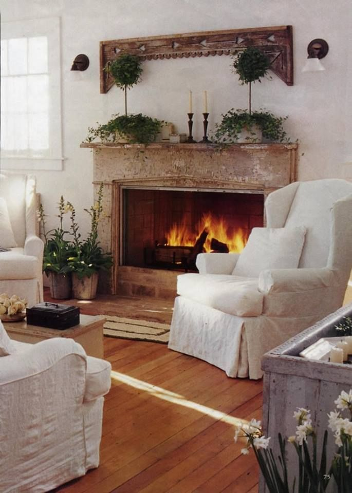 Amazing Fireplace Ideas For The Safety Space: Safety Fireplace Design At Living  Room With White Fabric Armchairs With White Color Design And. Part 40