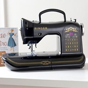 Ha, this is cool! I don't sew, but I like the design - modern machine with the look of an antique. Hey, if they can do it with cars...