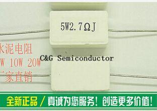 10ピース5ワット2.7R 2.7オーム2R7 +/-5%セメント抵抗5%セメント抵抗(8r 10r 15r 20r