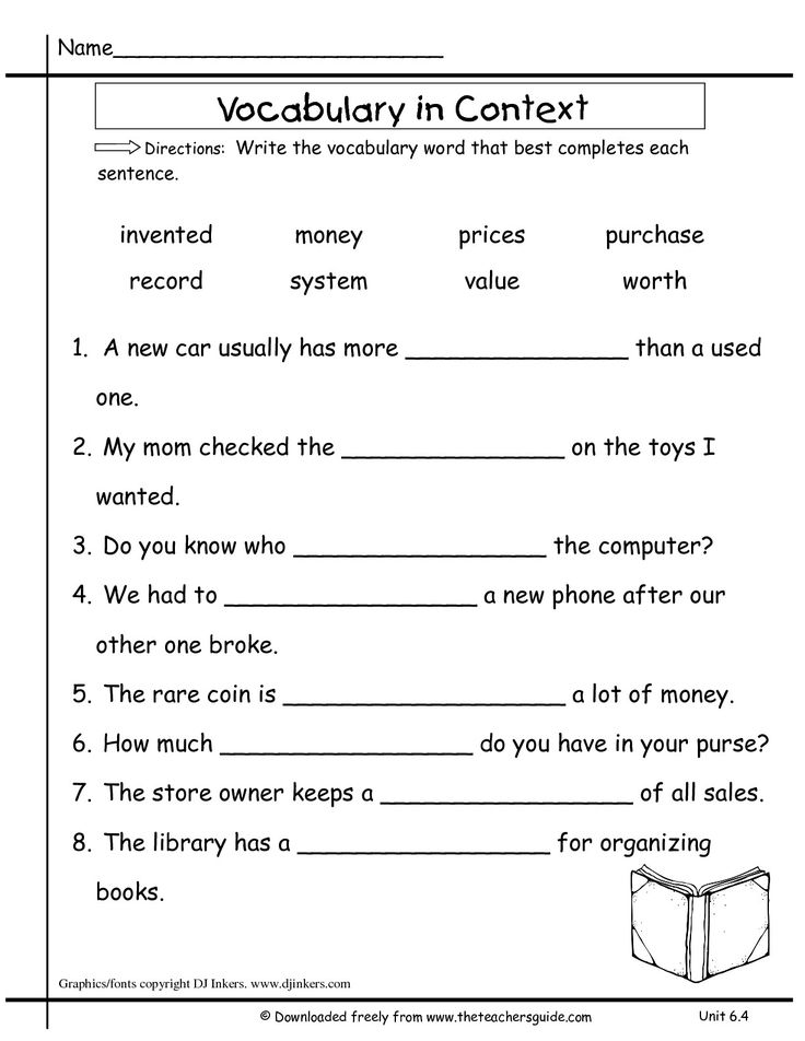 Image Result For Vocabulary Word Worksheet Grade 7