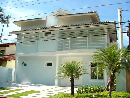 Casas pintadas de branco pesquisa google fachadas pinterest pesquisa - Fachadas de casas pintadas ...