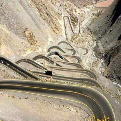 Ruta de Mendoza a Chile. El Caracol. It was designed on paper first then built . . .This is not send the backhoe grader guy out there and lets build a road . . .