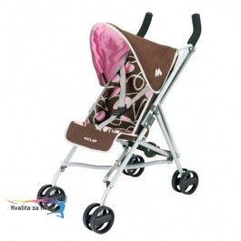 Kočík MACLAREN Junior quest Mini golfové palice so strieškou Upínacie pásy pre bábiku. Výška rukoväte: 54cm, dĺžka kočíka: 40cm, priemer koliesok: 27cm Rozmery: 40x27x54cm