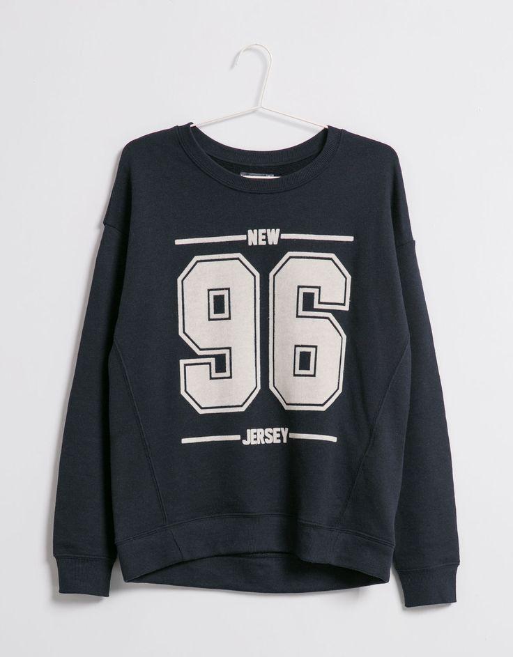 BSK number sweatshirt - Sweatshirts - Bershka United Kingdom