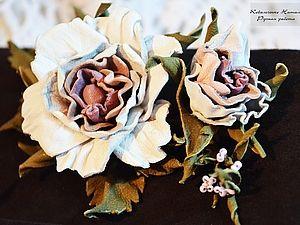 Как сделать розу из кожи.  Мастер-класс. | Ярмарка Мастеров - ручная работа, handmade