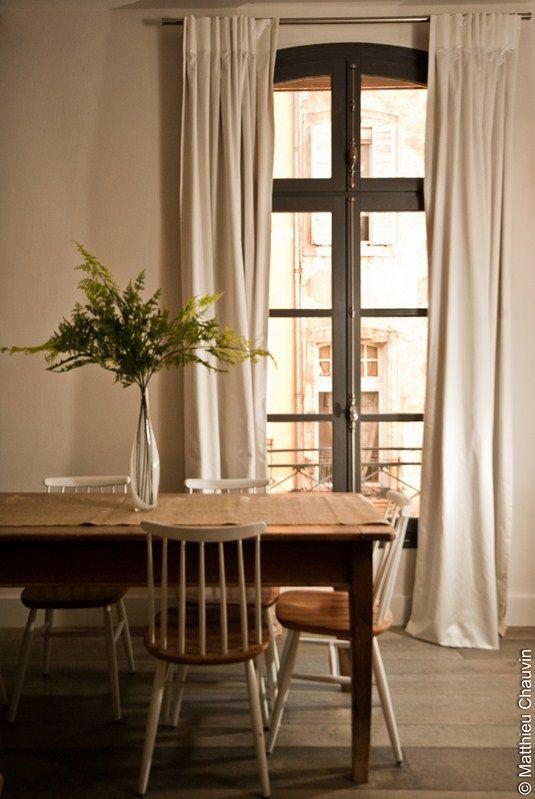 Les 52 meilleures images propos de des rideaux dans la for Rideaux pour salle a manger