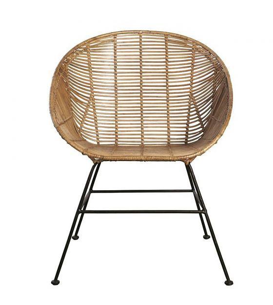 Housedoctor Lounge stoel Retro bruin rotan 65,5x65x5x84,5cm - wonenmetlef.nl