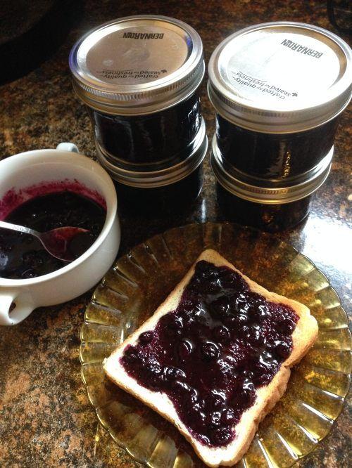 Blueberry Jam Newfoundland Recipe. Cookbook of Traditional Newfoundland Meals by Newfoundland.ws