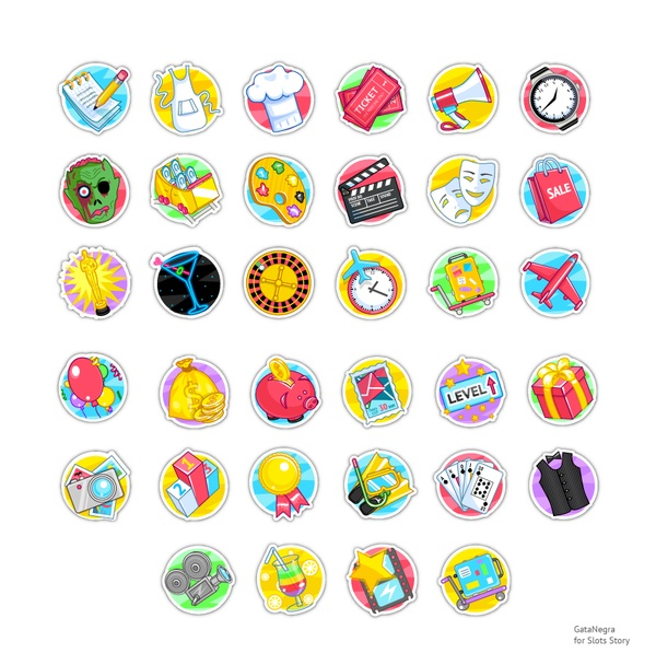 Icons for facebook game. Vector. on Behance