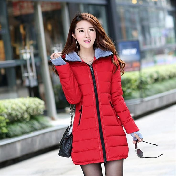 Camperas Mujer Invierno 2017 Winter Jacket Women Parka With Gloves Cotton Maxi Wadded Jackets Coats Plus Size Long Jacket C2261