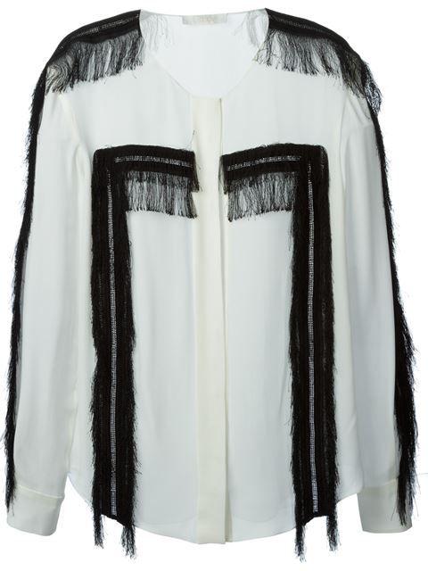 Shop Chloé fringed shirt in Smets - Chloé - pres spring 2015 - SMETS