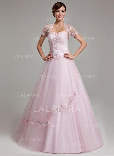 08536f6332ec1 [US$ 176.99] Ball-Gown Sweetheart Floor-Length Prom Dresses With Ruffle  Beading Appliques Lace