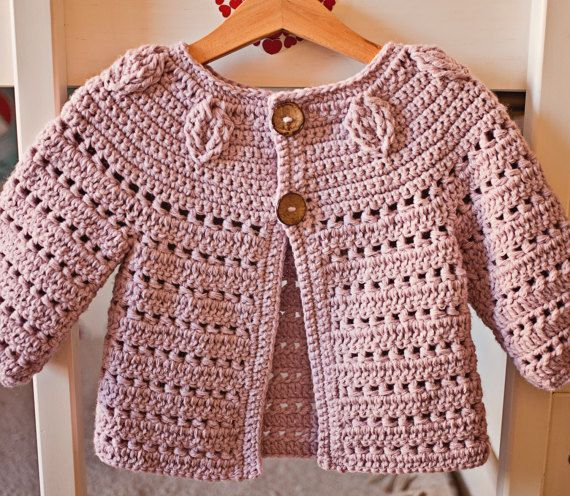 Crochet PATTERN Falling Leaves Cardigan sizes by monpetitviolon