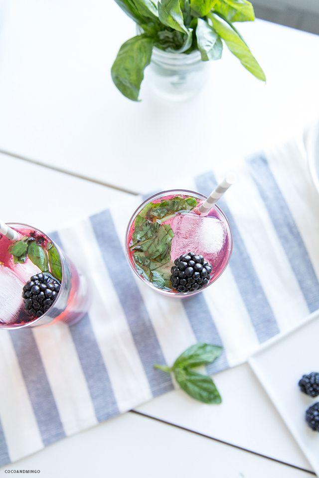blackberry basil fizz